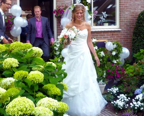 je tuin gereed voor de bruiloft
